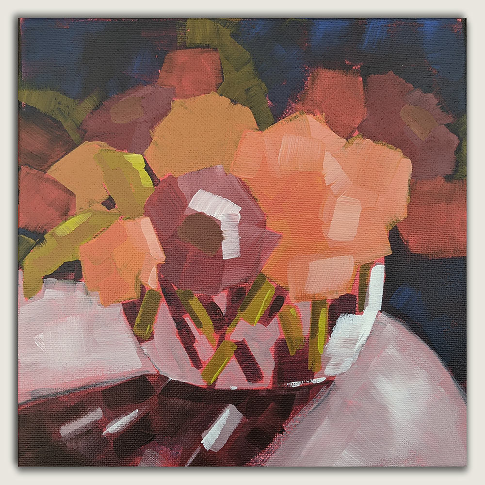 *Sold * Abstracted Floral Painting - July 27th