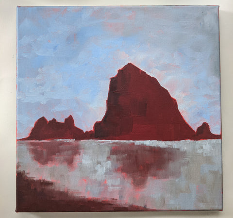 "** for Mike ** 12""x12"" - Cannon Beach 4"
