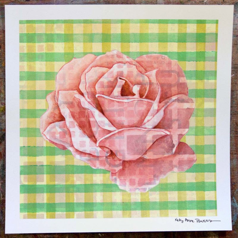 Plaid & Roses: Pink & Green