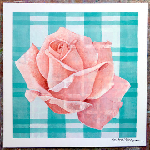 Plaid & Roses: Pink & Blue 2