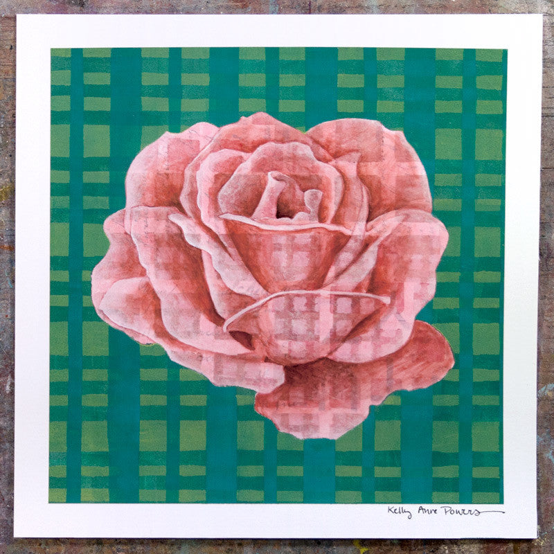 Plaid & Roses: Pink & Teal