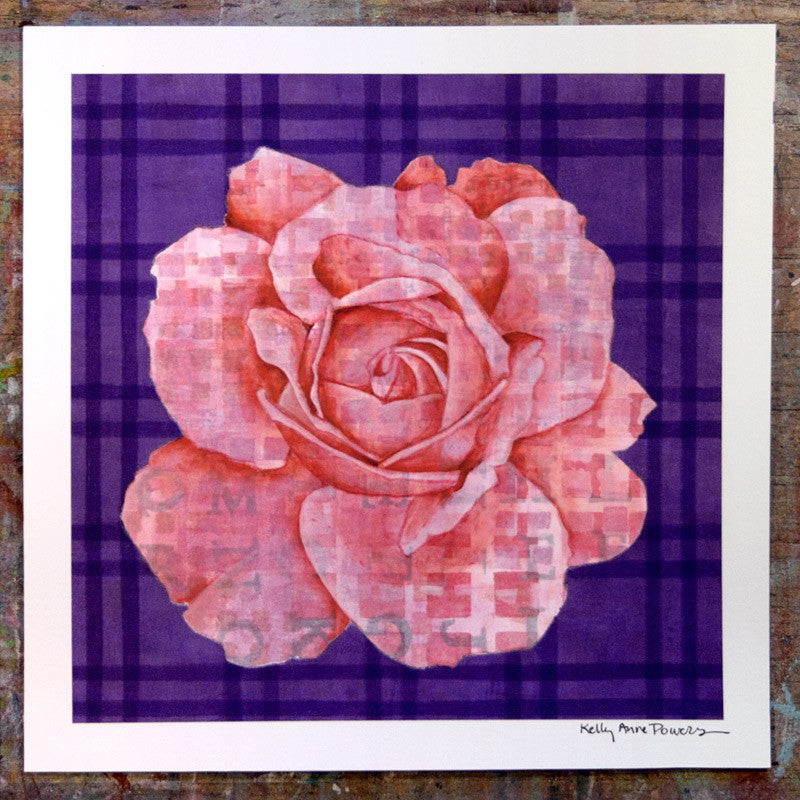 Plaid & Roses: Pink & Purple