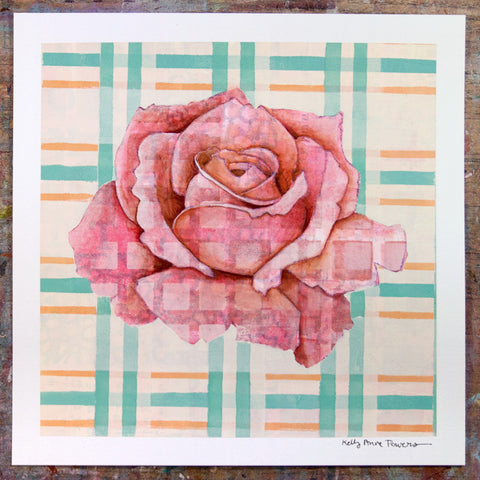 Plaid & Roses: Pink & Orange