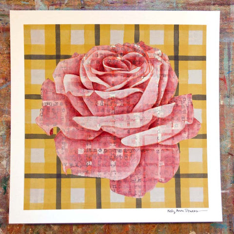 Plaid & Roses: Pink & Yellow 2