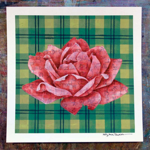 Plaid & Roses: Red & Green