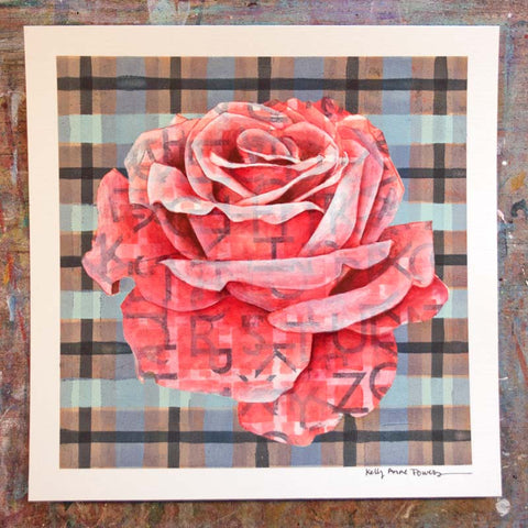 Plaid & Roses: Red & Neutrals