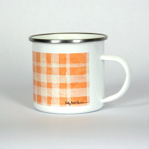 Orange Plaid Adventure 10 oz Mug