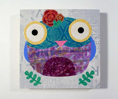 Mixed Media Owl 12