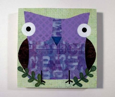 Mixed Media Owl 14