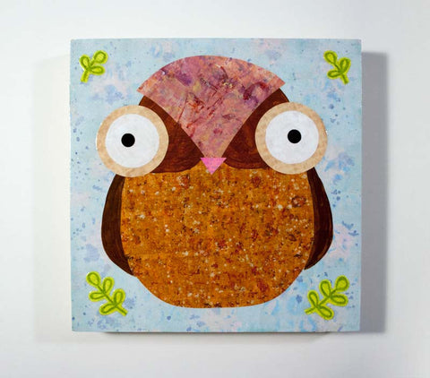 Mixed Media Owl 15