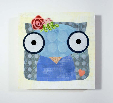 Mixed Media Owl 16