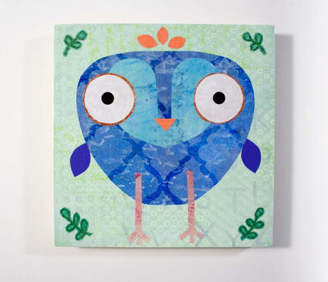 Mixed Media Owl 17