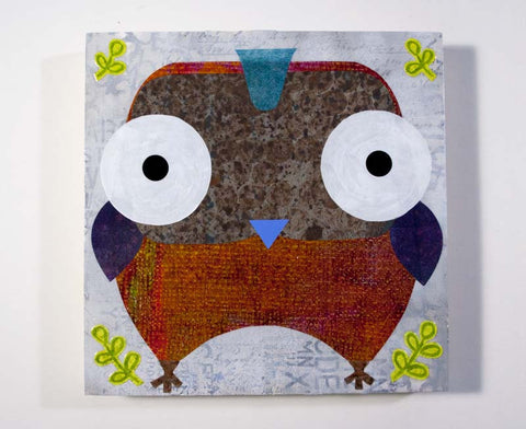 Mixed Media Owl 04