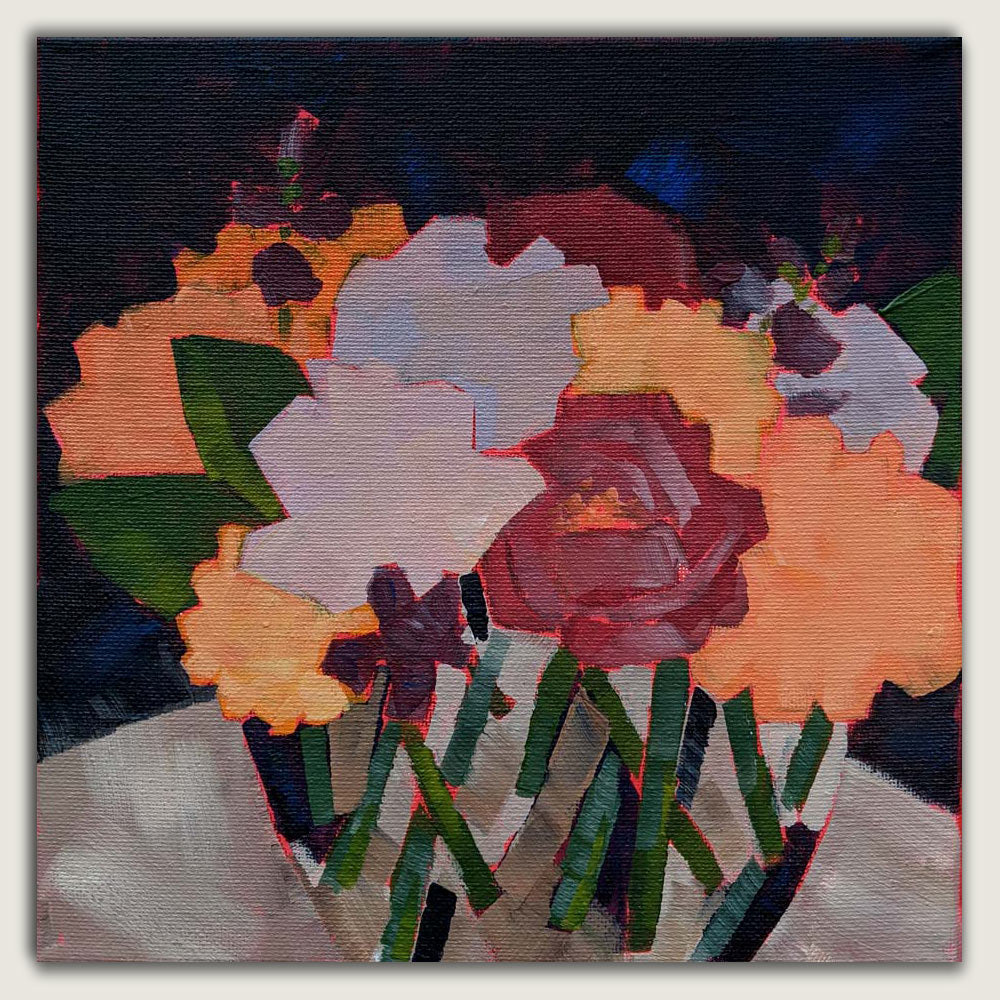 Abstracted Floral Painting - August 21st