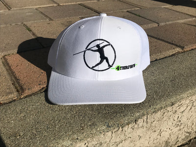 4Throws Snapback White Hat