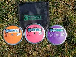4Throws- 1KG ARETE Low Rim Weight- Discus Pack