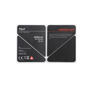 DJI Inspire 1 TB47 Battery Insulation Sticker