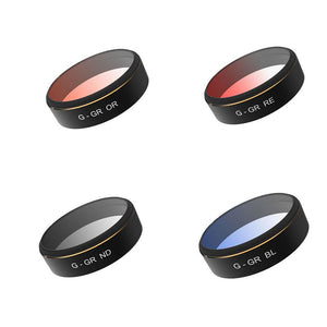PGYTECH Color Filter Set for Phantom 4 Pro (Gray/Orange/Blue/Red)