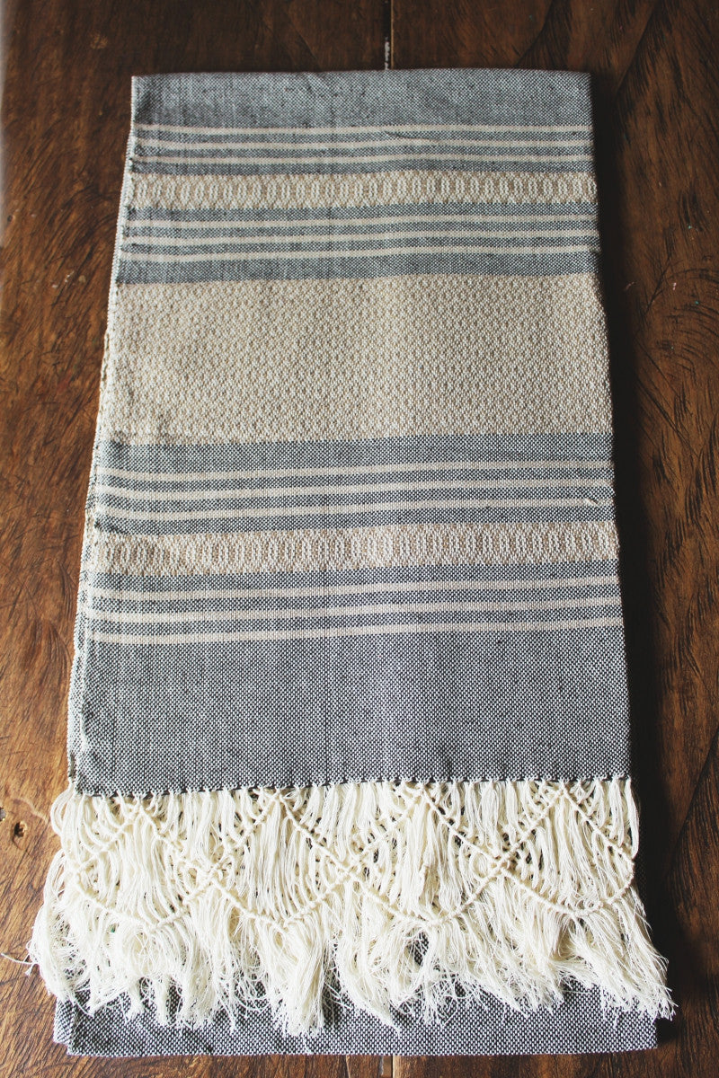 Traditional Mexican birth rebozo, brown beige rebozos
