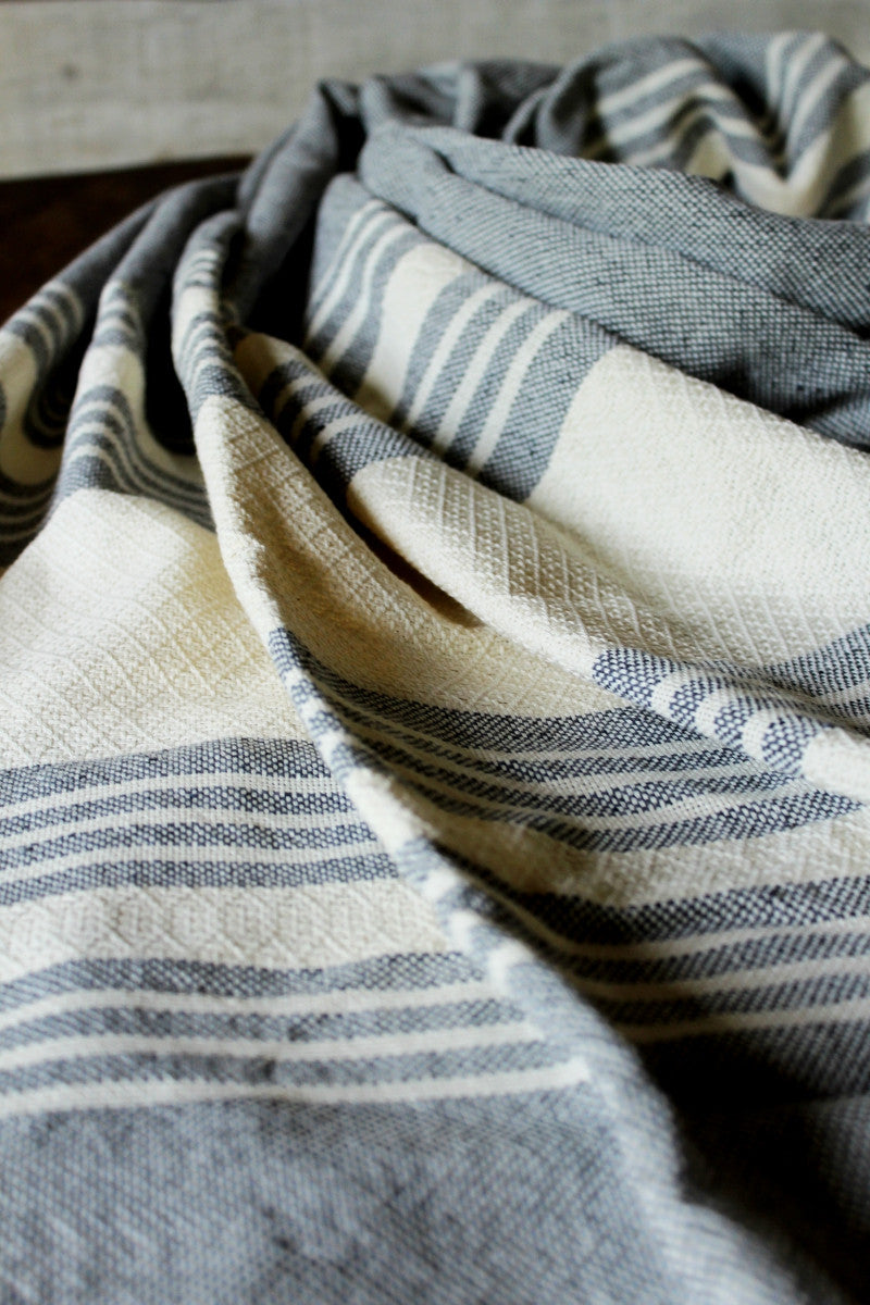 Traditional Mexican Birth Rebozo, Grey White labor Rebozos