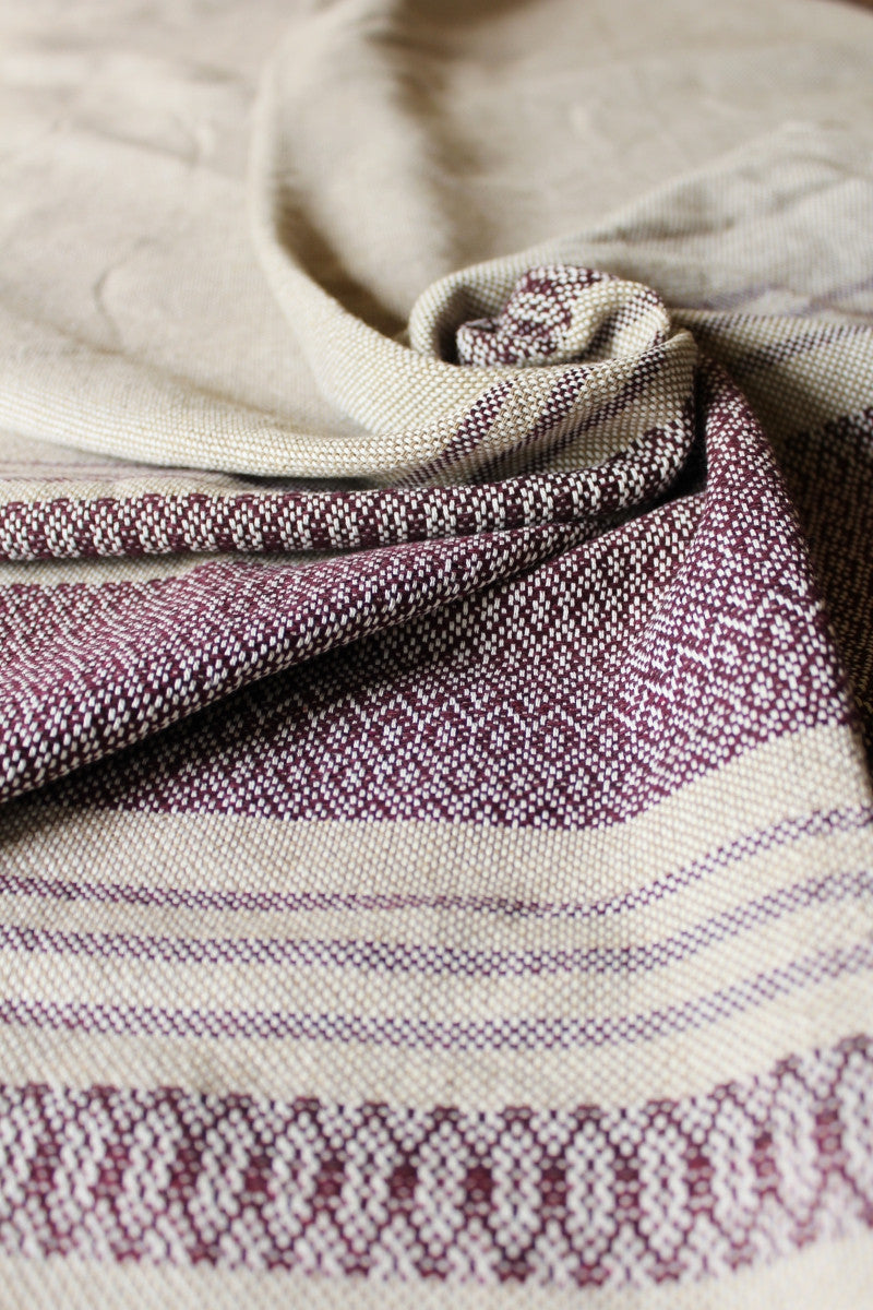 Traditional Mexican Birth Rebozo, Beige & Wine labor Rebozos