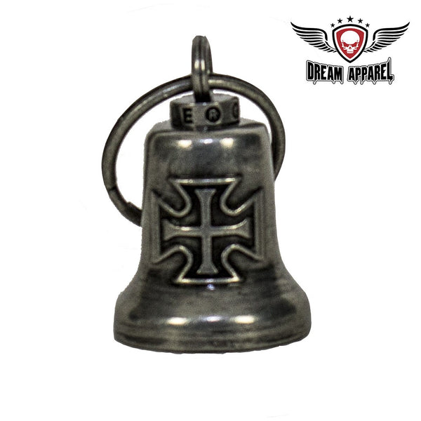 Gun Metal Iron Cross Gargoyle Bell w/ Carrier Bag
