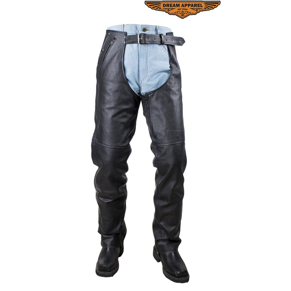 NEW PREMIUM NAKED LEATHER MOTORCYCLE Biker CHAPS EZ OUT