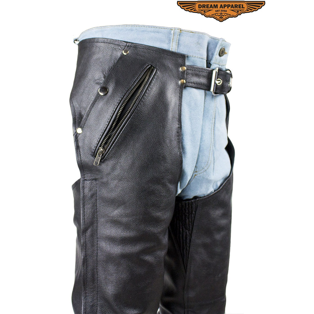Premium Naked Cowhide Leather Chaps C332-11