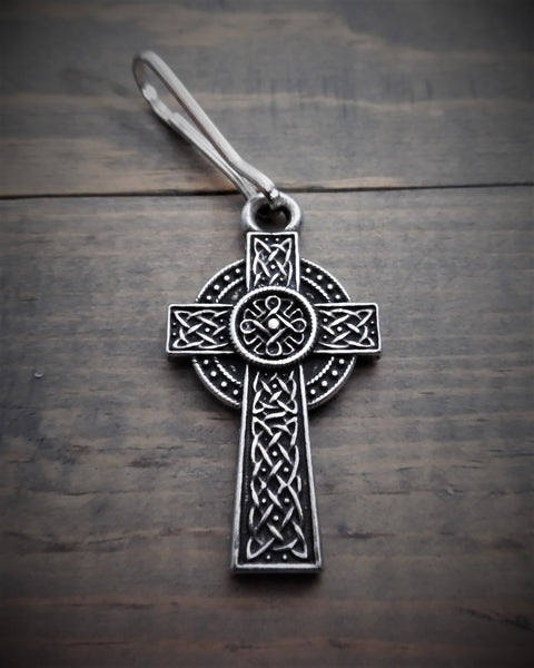 Celtic Cross Zipper Pull