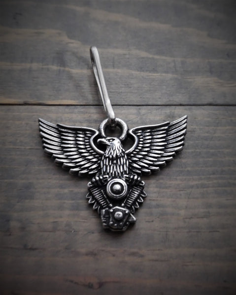 Eagle V-Twin Zipper Pull