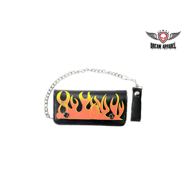 Leather Wallet With Flames