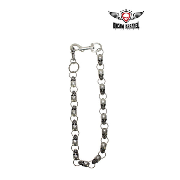 "25"" inch long Gun Metal infused Biker Chain"