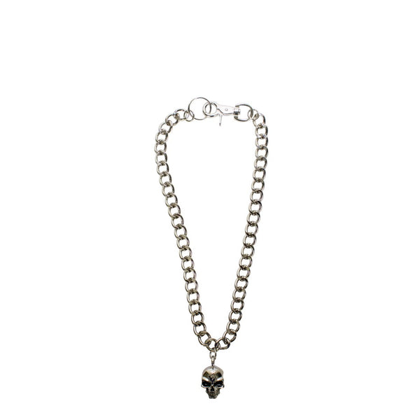 "25"" Inch Long Chrome Looped Skull Biker Chain"