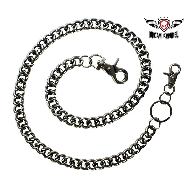 "28"" Black Chrome Biker Chain"