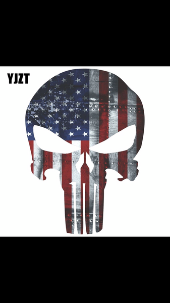 Red White and Blue Punisher Decal