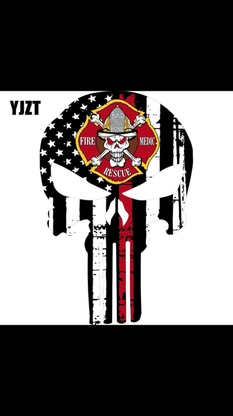 Fire Fighter Punisher Decal