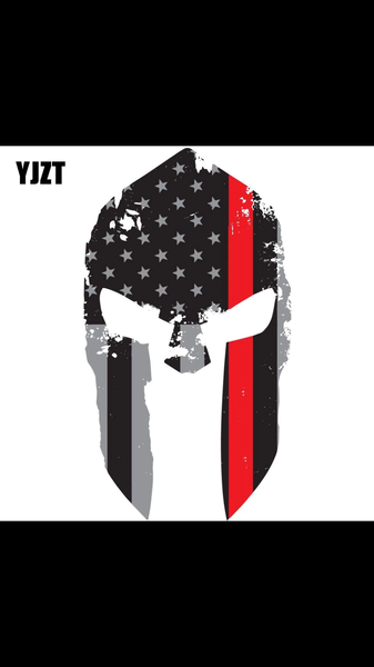 Red Or Blue Stripe Punisher Decal