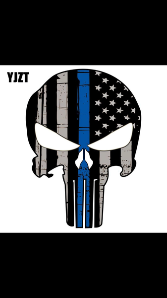 Blue Stripe punisher Decal