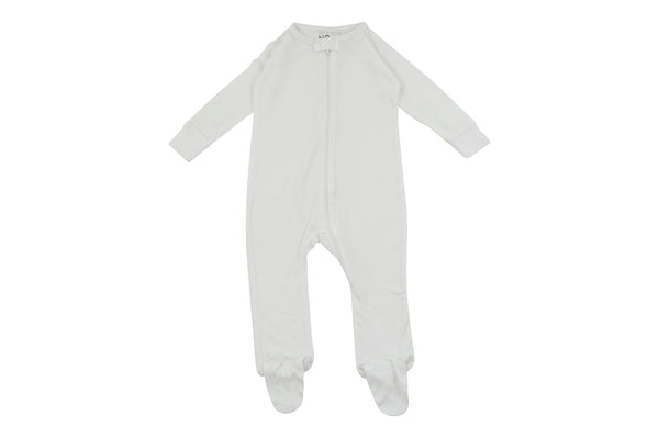 white footed bamboo pajamas