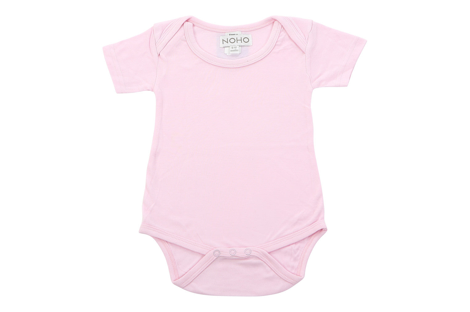 short sleeve onesie in baby pink