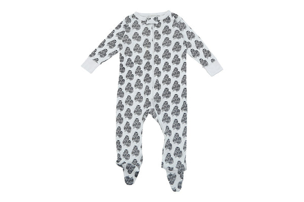 bamboo footed pajamas navy owls