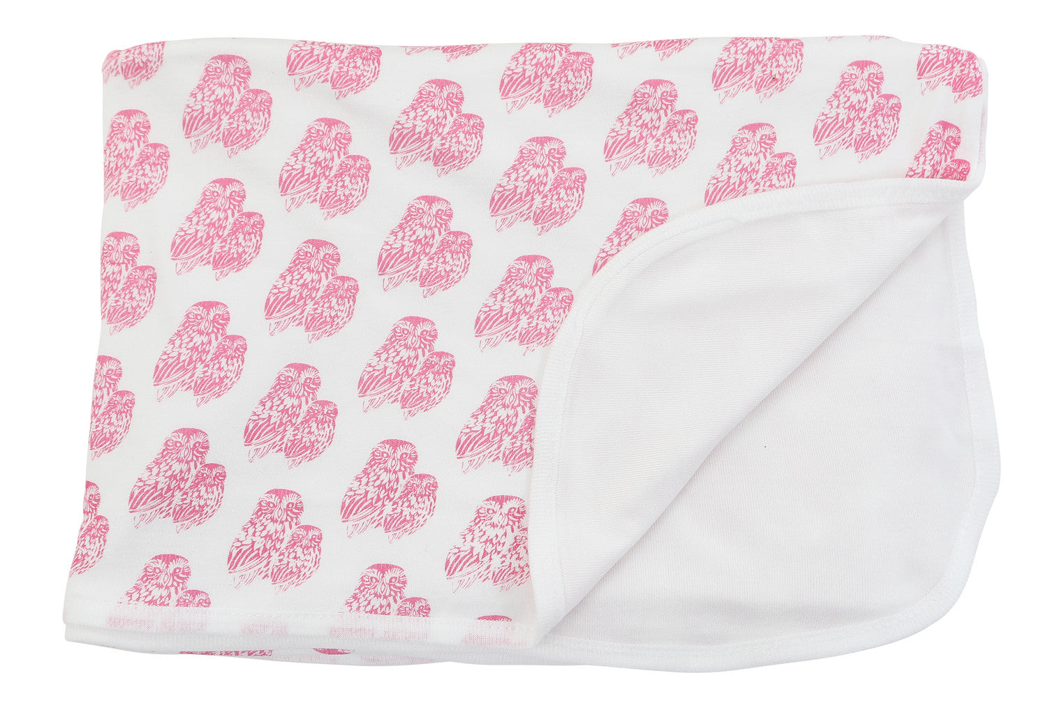 bamboo swaddle in pink owls