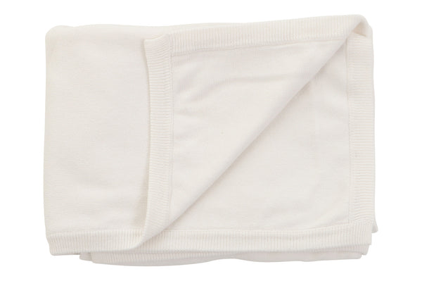 cotton cashmere cream white baby blanket
