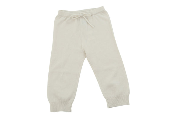 cream cashmere baby pants