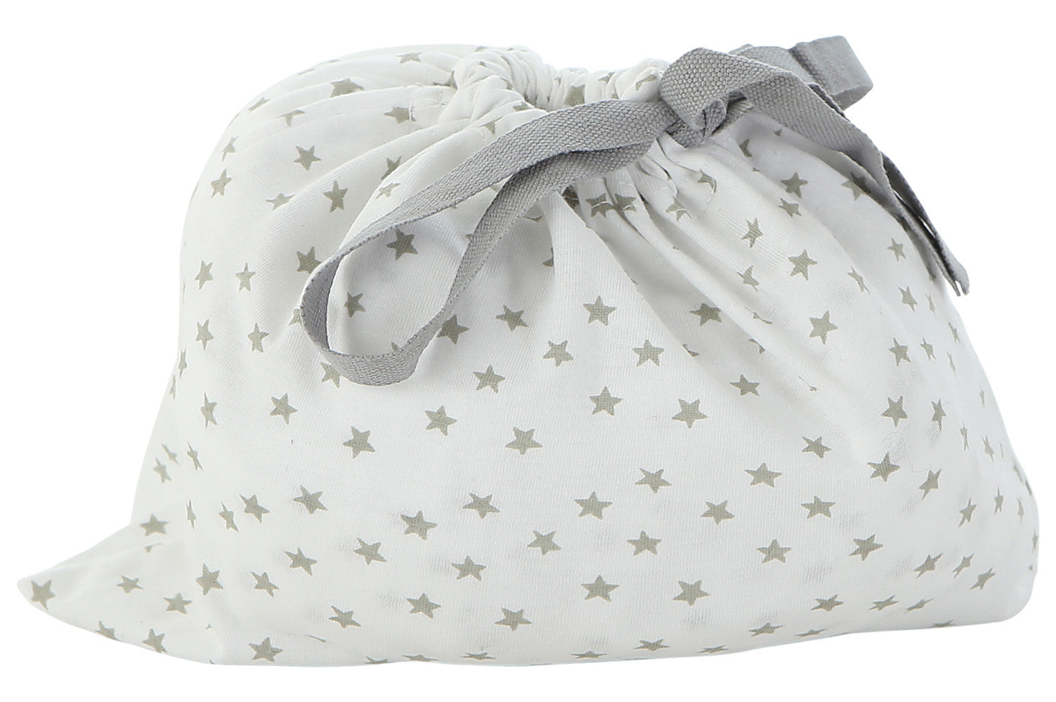 Grey star fitted crib sheet