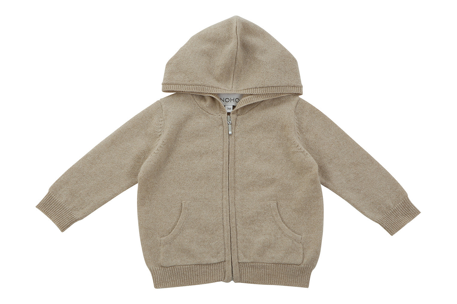 light brown cashmere baby hoodie