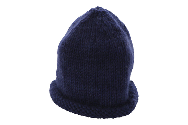 navy blue cashmere baby hat