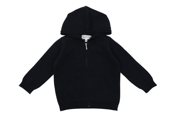 navy blue cashmere baby hoodie