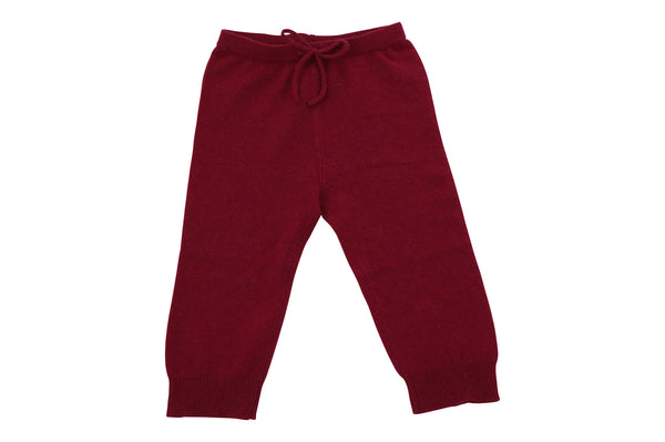cashmere cozy pants in rich berry