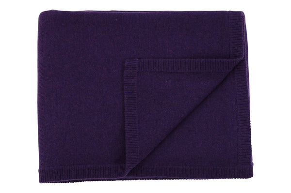purple cashmere baby blanket